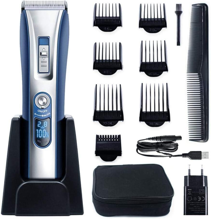 Cortapelos Cortadora de cabello digital/cortadora de cabello universal para adultos para bebés/cargador de asiento de atenuador eléctrico de bajo ruido