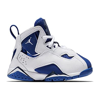 becc7a1339c7c NIKE Toddler Boy's Jordan True Flight, White/White-Deep Royal Blue, 4C