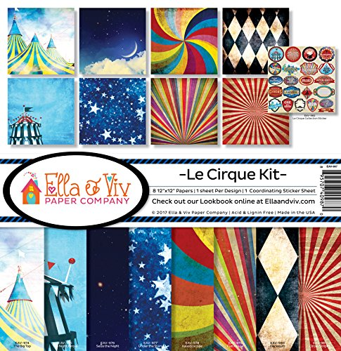 Ella & Viv by Reminisce Le Cirque Scrapbook Collection Kit by Ella & Viv by Reminisce