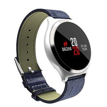 ZY M7 Reloj Inteligente Ritmo Cardíaco Monitorización De La Presión Arterial Android iOS Deportes Bluetooth Modelos De Explosión Nueva Pulsera,Blue: ...