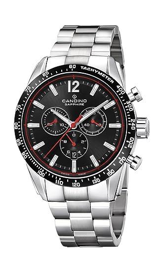 Candino Reloj Cronógrafo para Hombre de Cuarzo con Correa en Acero Inoxidable C4682/4: Amazon.es: Relojes