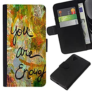 Stuss Case / Funda Carcasa PU de Cuero - Est¨¢ Cita amor suficiente pintura divertido - LG Nexus 5 D820 D821