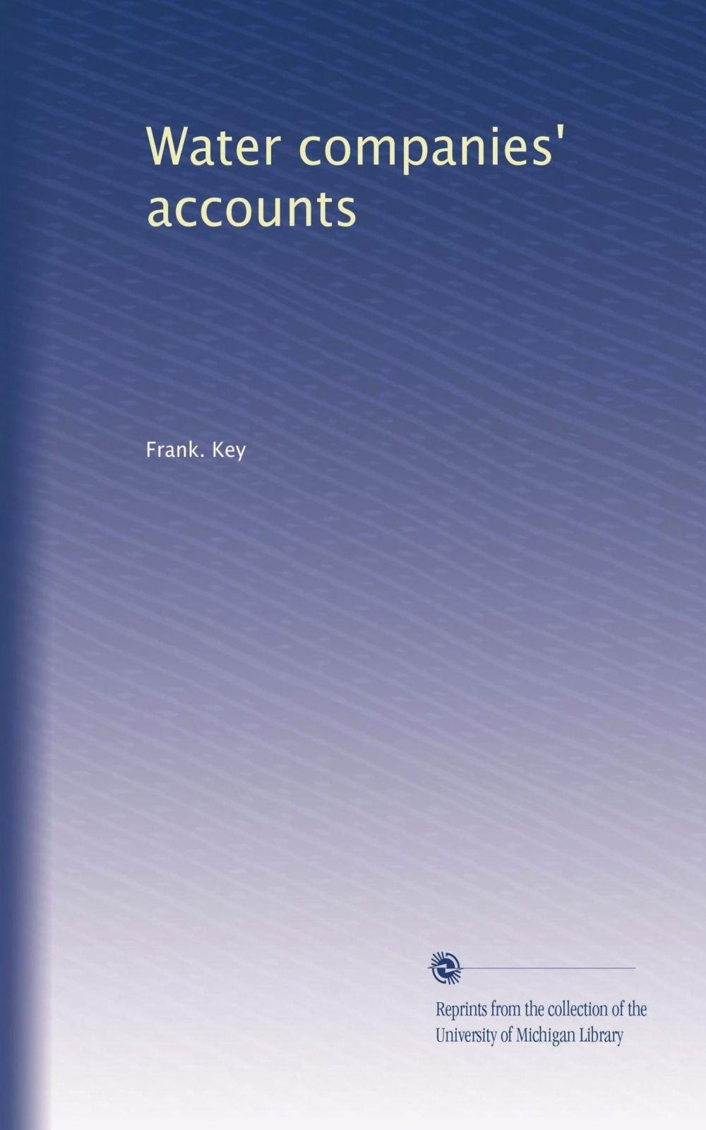Download Water companies' accounts ebook