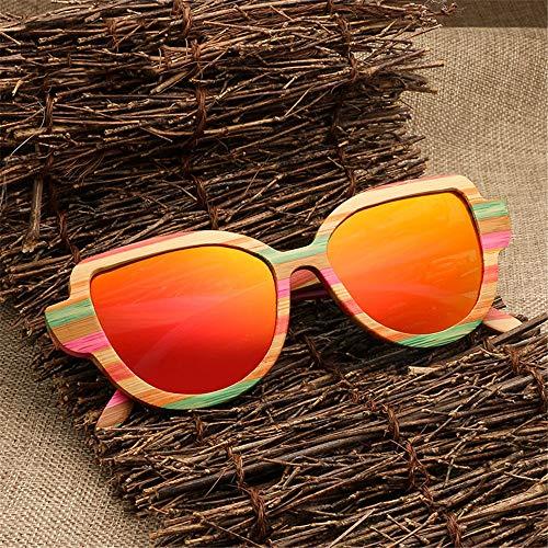 Vacances de polarisées UV Soleil pêche de pour Orange de Gris Protection Lunettes de Couleur Classiques de Bois en Partie Sunbobo Femmes Lunettes Cadre Soleil 54PwqWR6Z