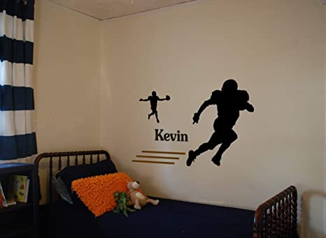 Amazoncom Aluckyhorseshoe Football Sport Personalized Room