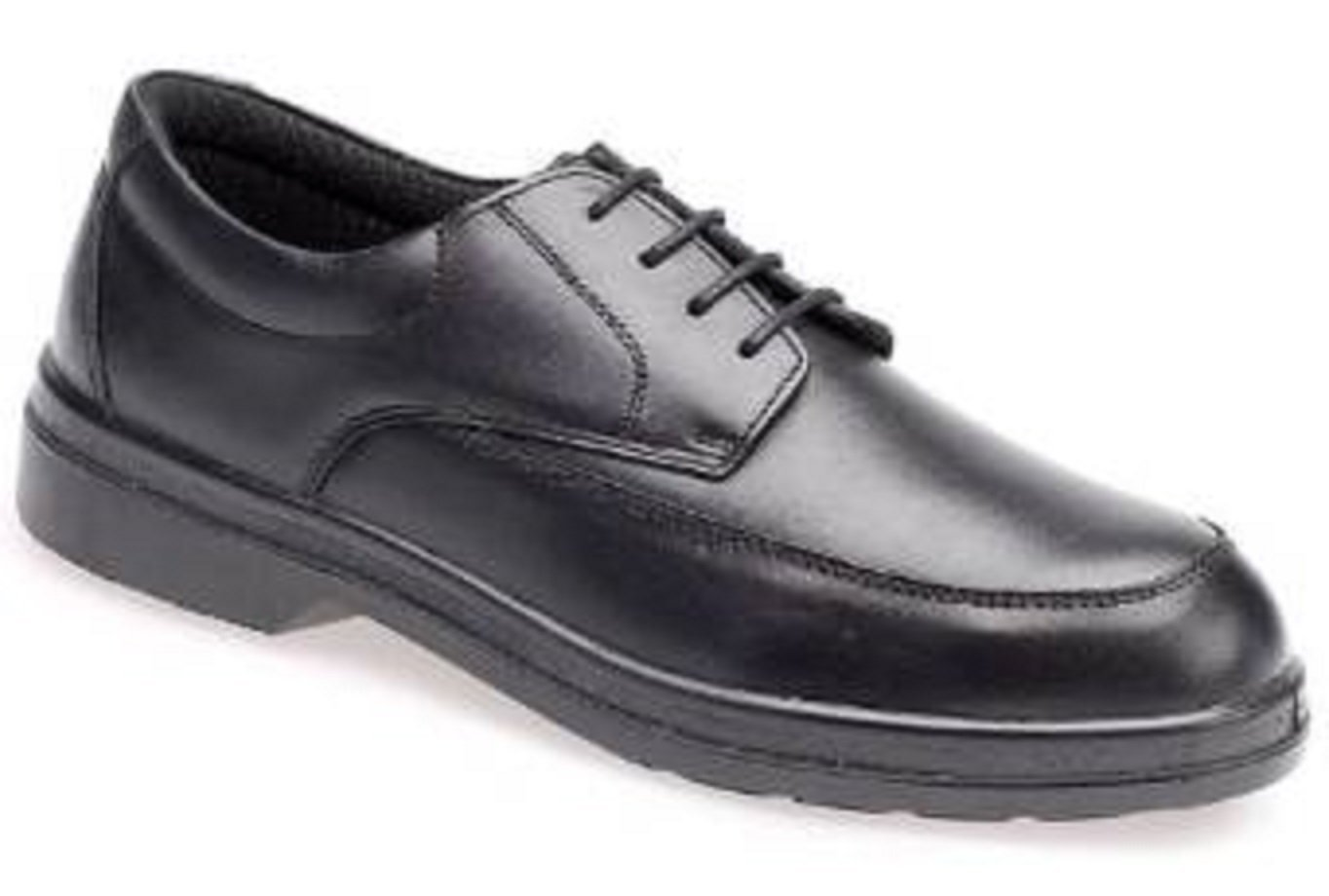 Capps Men's LH700 High Quality Leather Mudguard Safety Shoe With Comfort Lining US Size 12 Black