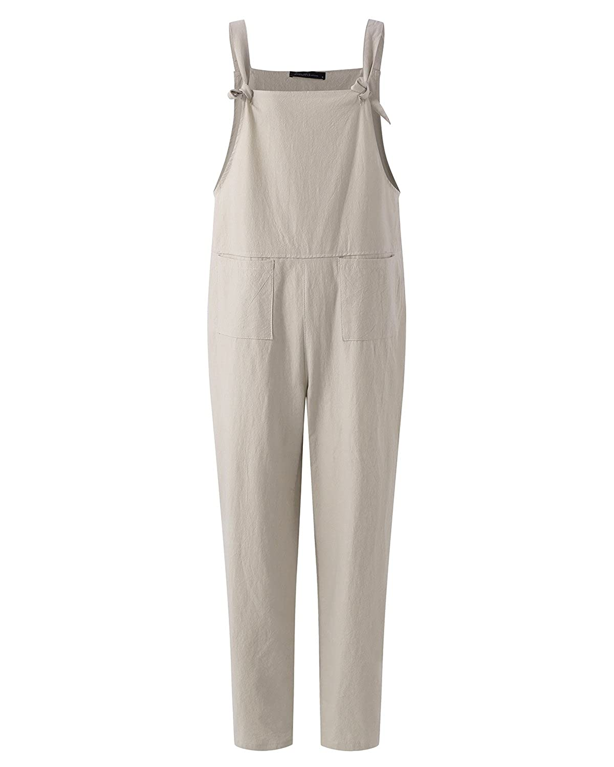 84e1c90b28 ZANZEA Women s Retro Loose Casual Baggy Sleeveless Overall Long Jumpsuit  Playsuit Trousers Pants Dungarees  Amazon.co.uk  Clothing