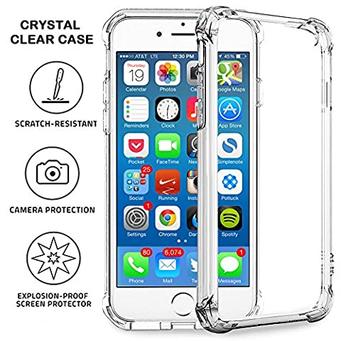 iPhone 6 | 6s Case - Super Flexible Clear TPU Case - Slim Crystal Rubber Cover Silicon Gel Phone (Otterbox Privacy Screen Iphone 5)