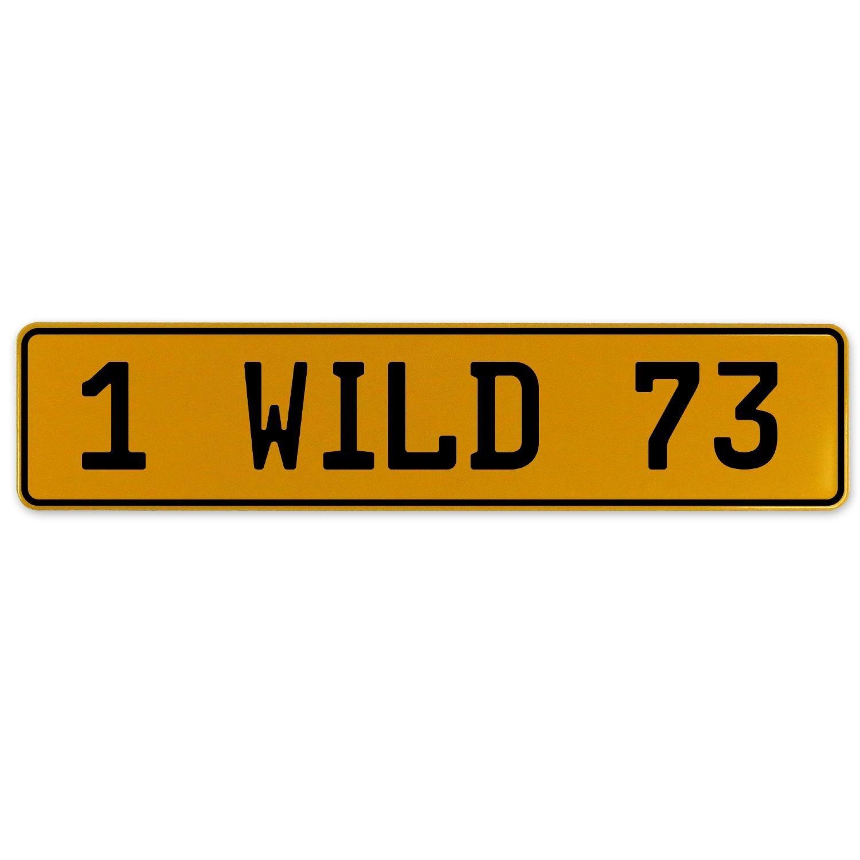 Vintage Parts 561007 1 Wild 73 Yellow Stamped Aluminum European Plate