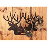 Deer Head Scene Hat Rack