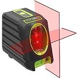 Huepar 2ライン レーザー墨出し器 赤色 クロスラインレーザー ミニ型 収納バック 磁石マウント付き BOX-1R