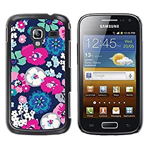 Be Good Phone Accessory // Dura Cáscara cubierta Protectora Caso Carcasa Funda de Protección para Samsung Galaxy Ace 2 I8160 Ace II X S7560M // White Spring Floral Flower Petal