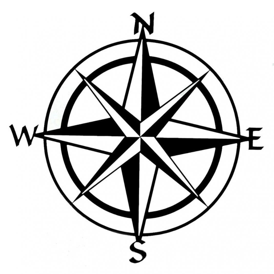 856store Big Promotion Unique Compass Pattern Car Truck Window Decal Reflective Sticker Decoration