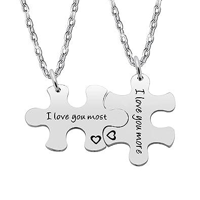 Gzrlyf Puzzle Pieza Llavero I Love You More I Love You More ...