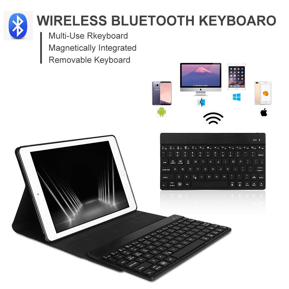 Mini 2 Mini 4 Universal Funda con Teclado Bluetooth para iPad Mini Mini 3 Dingrich Funda Teclado de iPad Mini Mini 5 2019