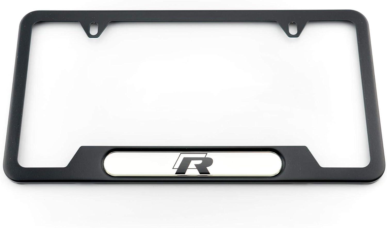 Volkswagen R Line Chrome License Plate Frame Caps