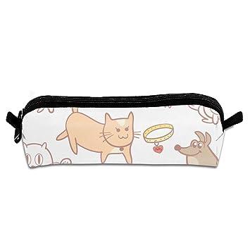 Pengyong Estuche para lápices con Cremallera, diseño de Gatos y Perros, para niños y Adolescentes: Amazon.es: Hogar