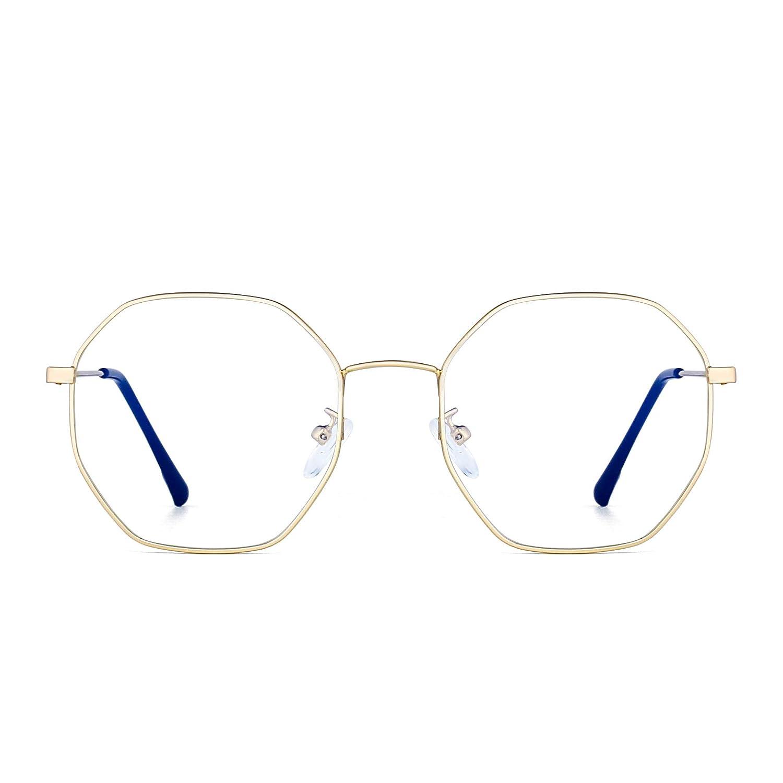 Fashion Designer Metal Optical Glasses Frame Anti Blue Light Computer Glasses Eye Protection Women 6275C3