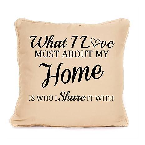 Amazon.com: Casa Familia cojín funda de almohada regalo ...