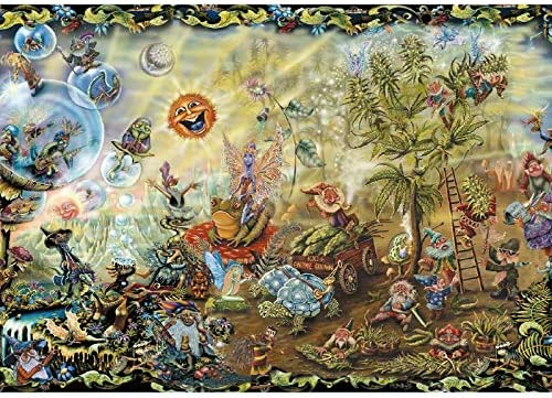 JMbeauuuty 2000 Pieces Jigsaw Puzzles for Adults Dream Combo Plants Puzzle Painting Jigsaws 39.37 x 27.55 Inches