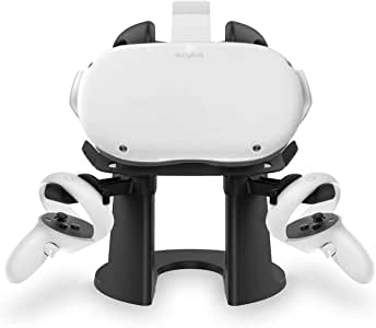 AMVR VR Stand,Headset Display Holder and Controller Mount Station for Oculus Rift S/Oculus Quest/Oculus Quest 2 Headset and Touch Controllers