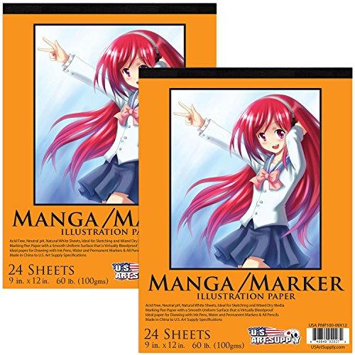 Art Supply Premium Manga Marker 24 Sheets