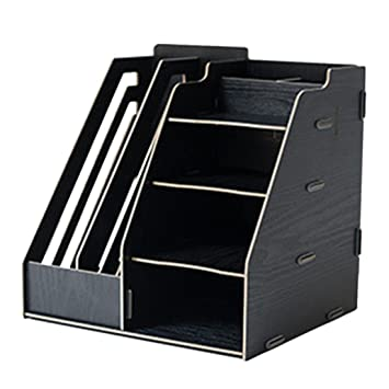 DUS Stehsammler Zeitschriftensammler Metall Aufbewahrungsbox Dokumente B/ücher Organizer B/üro Schreibtisch Organizer