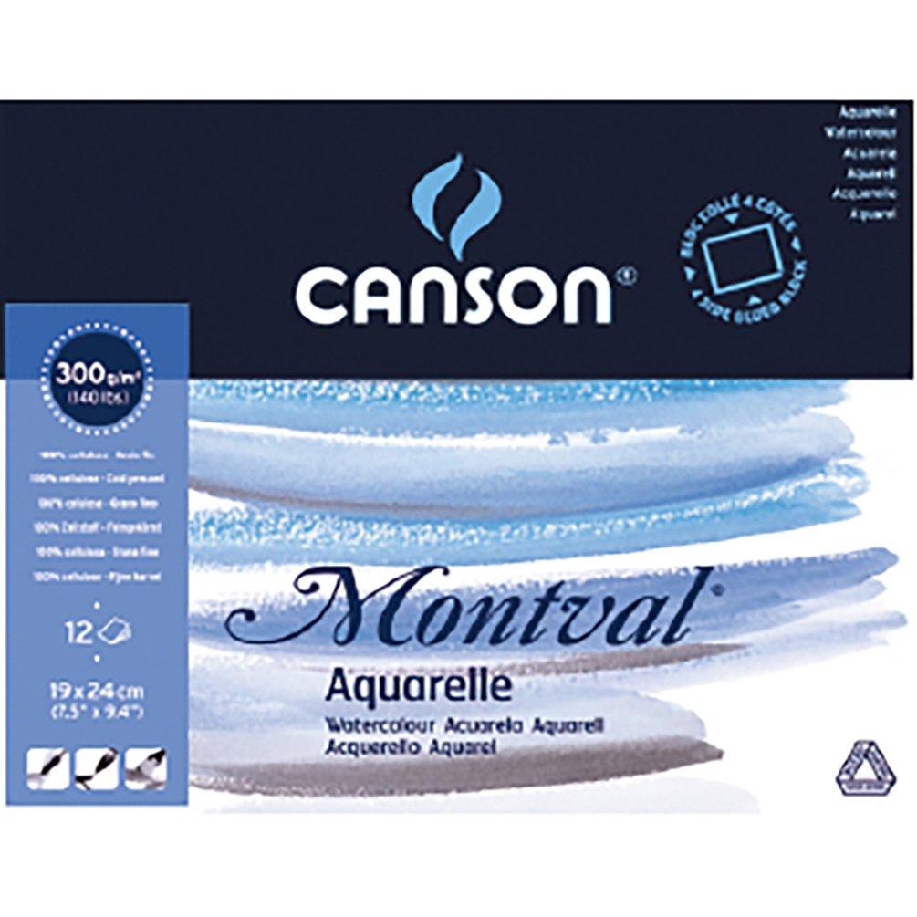 CANSON Aquarellpapier Block DIN A5 300 g//qm weiß