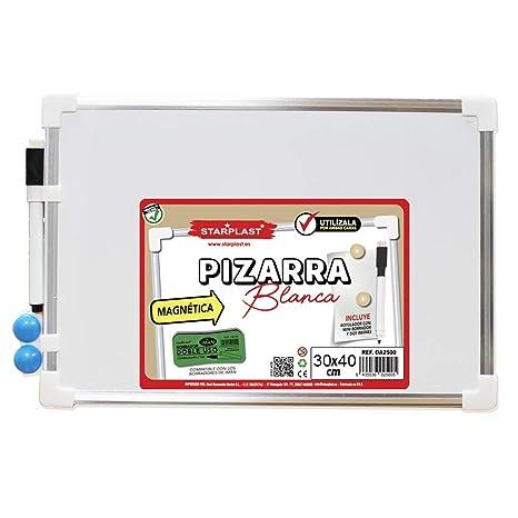 Starplast OA2502- Pizarra Blanca magnética 30x40cm, Incluye ...
