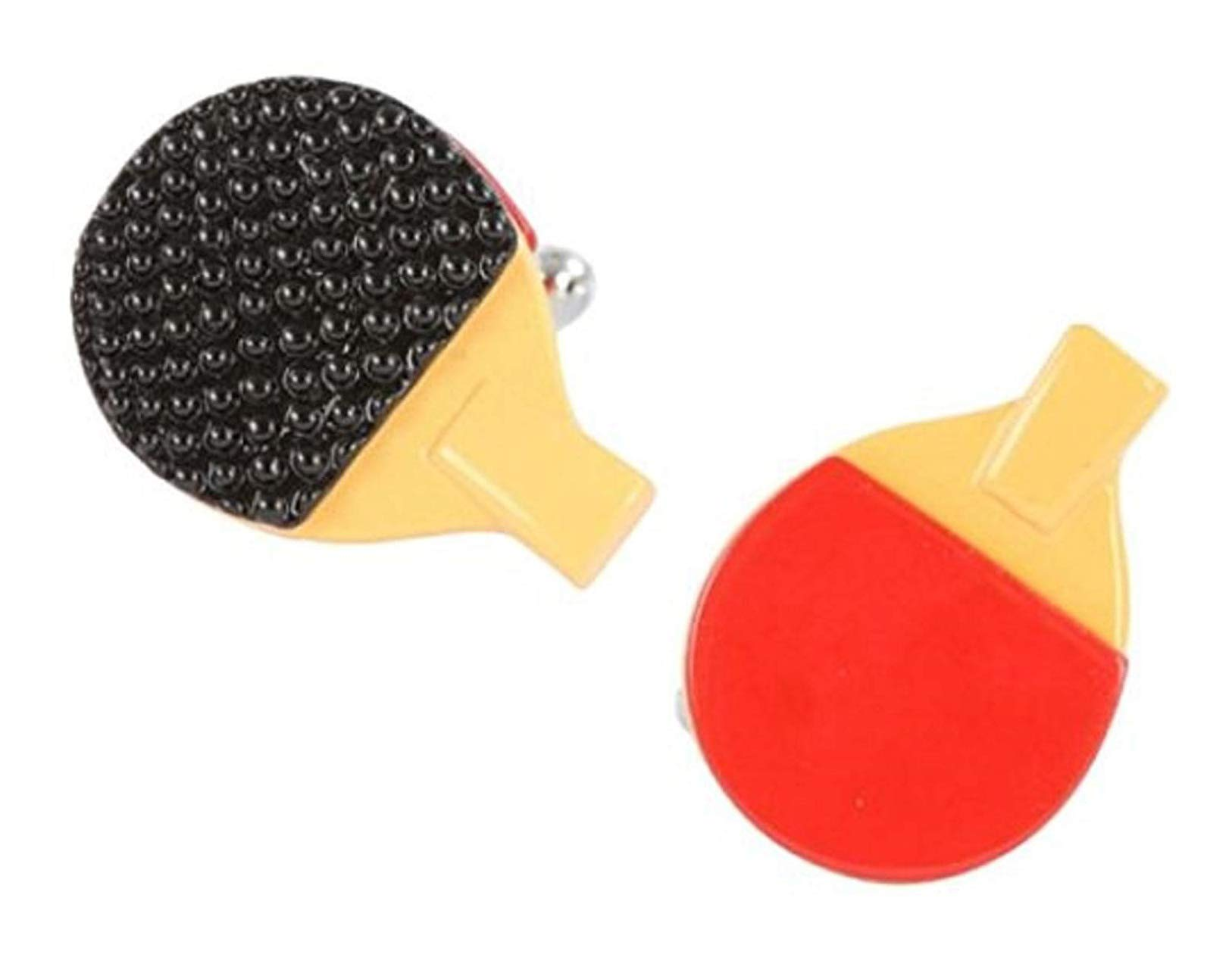 The Jewelbox Sports Table Tennis Bat Red Black Brass Formal Shirt Blazer Suit Cufflinks Pair Men Gift Box
