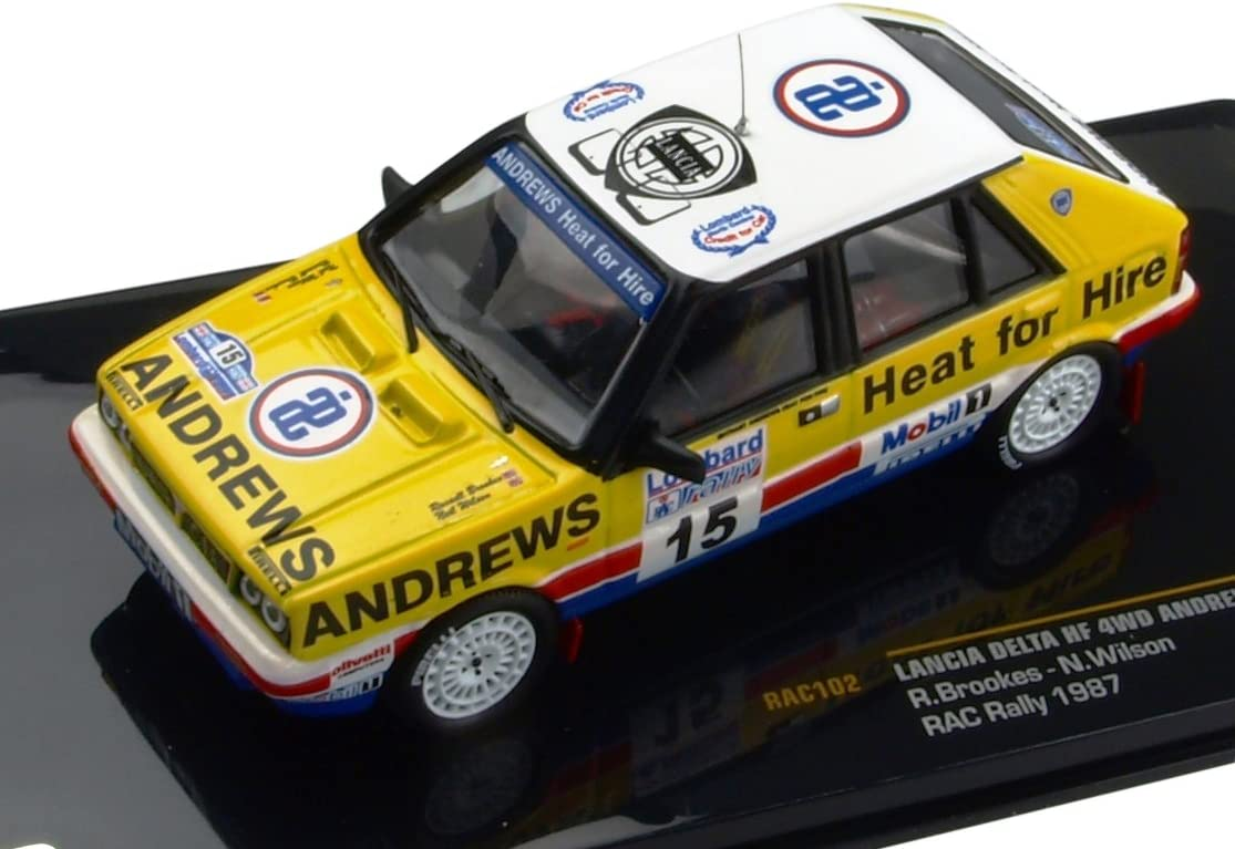 1:43 Lancia Delta HF 4wd-Brookes-RAC Rally 1987-RAC 102
