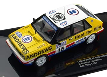 Lancia Delta HF 4WD Andrews Heat for Hire #15 RAC Rallye 1987 1:43