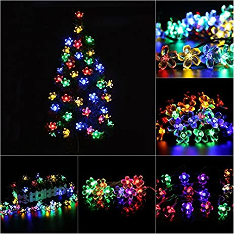 bunitaplum shaped led string lights christmas tree hanging ornament courtyard decorative wedding birthday xmas - Christmas Tree Lights Amazon