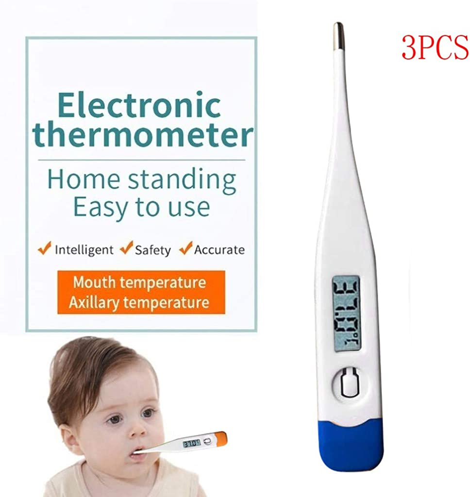 Yamasaki Digital Thermometer with LCD Screen Child Adult Body Thermometer Temperature Measurement Waterproof