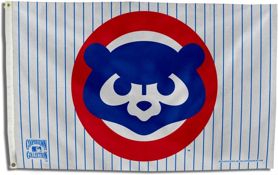 MLB Chicago Cubs 1984 Cooperstown 3 by 5 Banner Flag