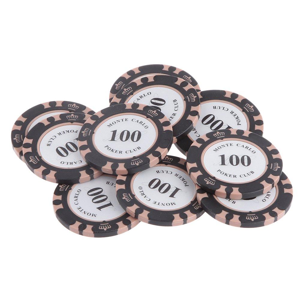 MagiDeal Texas Poker Casino Poker Chips Mahjong Brettspiel Zä hler Chip-Poker - 10 Dollar, 117cm