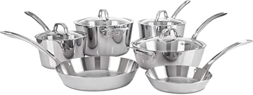 Viking Contemporary 3-Ply Stainless Steel Cookware Set