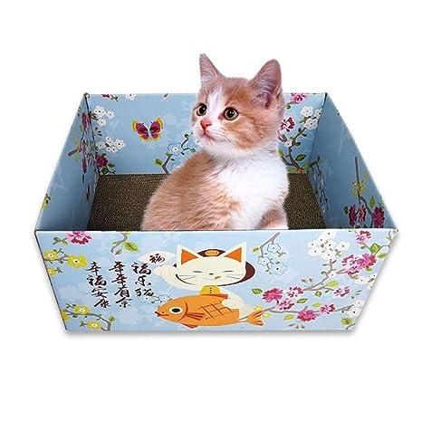 Alfombra de Gatos, Alfombrilla Rascadora para Gatos, Juguete de Gato, Casa Scratcher Cat