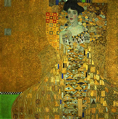 Wieco Art Portrait of Adele Bloch-Bauer I,1907 by Gustav Klimt Famous Paintings Canvas Wall Art Bedroom Wall Decor Canvas Prints Artwork for Living Room Wall Decorations Home Decor