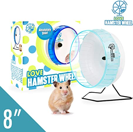 Hamster Wheel 8 Pet Silent Spinner Comfort Exercise Wheel Large Blue Durable Thick Disc Wall Design And Stable Circular Edge Set With Removable Shaft Premium Pp Material Amazon Co Uk Pet Supplies