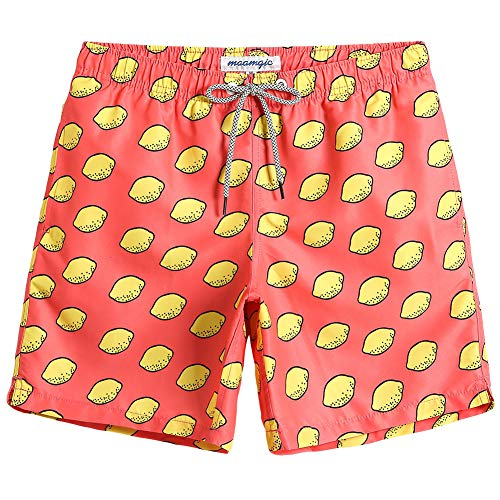 (MaaMgic Mens Quick Dry Printed Short Swim Trunks with Mesh Lining Swimwear Bathing Suits)