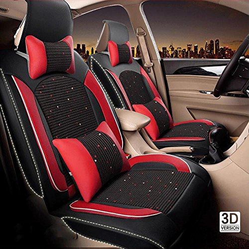 QLL U The New Car Seat Cushion Leather Seat Cover Four Seasons General Ice...