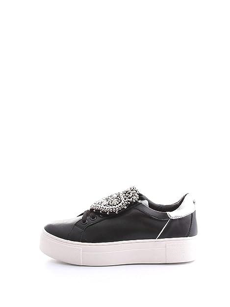 4c8934e20e Cult CLE103977 Love Low Leather Sneakers Black/Silver con Cuore ...