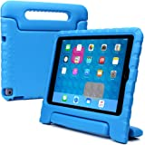 Samsung Galaxy Tab 4 10.1, Tab 3 10.1 kids case, [2-in-1 Bulky Handle: Carry & Stand] COOPER DYNAMO Rugged Heavy Duty Children's Cover + Handle, Stand & Screen Protector - Boys Girls Elderly (Blue)