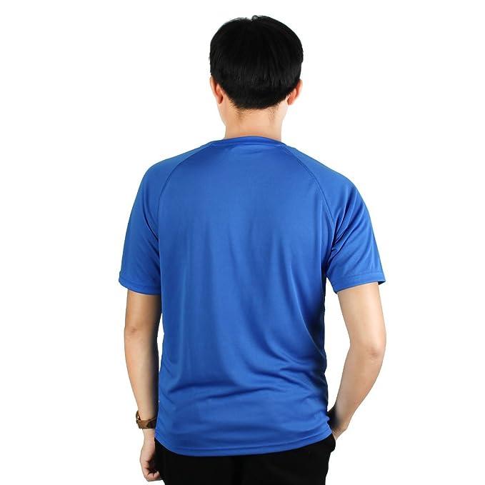 Amazon.com : eDealMax Hombres maratón al aire Libre Escalada de reproducción, Mangas cortas, de secado rápido, Camiseta Azul Real L Deportes : Sports & ...