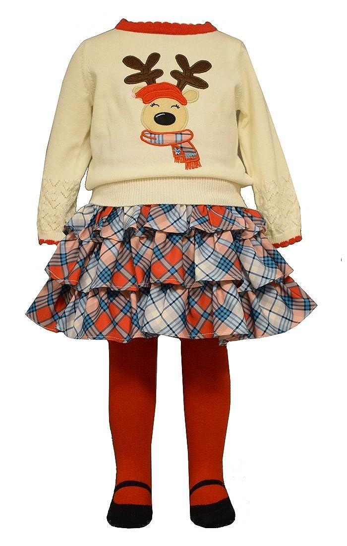 素敵な Bonnie Baby B01M0KF7XB Girl 18 3個入りトナカイセータースカートセット( Baby 12 m-4t ) 18 Months B01M0KF7XB, ディーショップワン:4668ae2f --- quiltersinfo.yarnslave.com