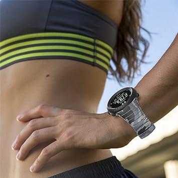 TianranRT - Correa deportiva de silicona para reloj Smart Core Suunto, gris: Amazon.es: Bricolaje y herramientas