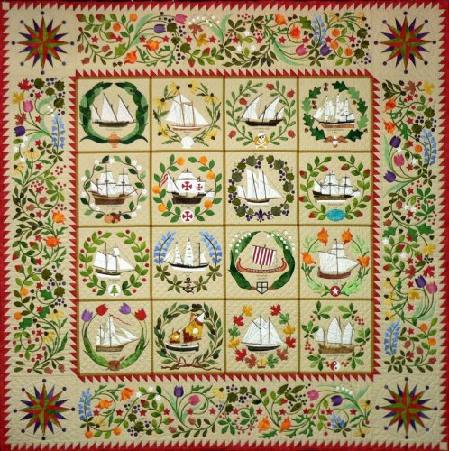 Quakertown Ladies of the Sea Quilt Applique 12 Pattern BOM Set by Quakertown