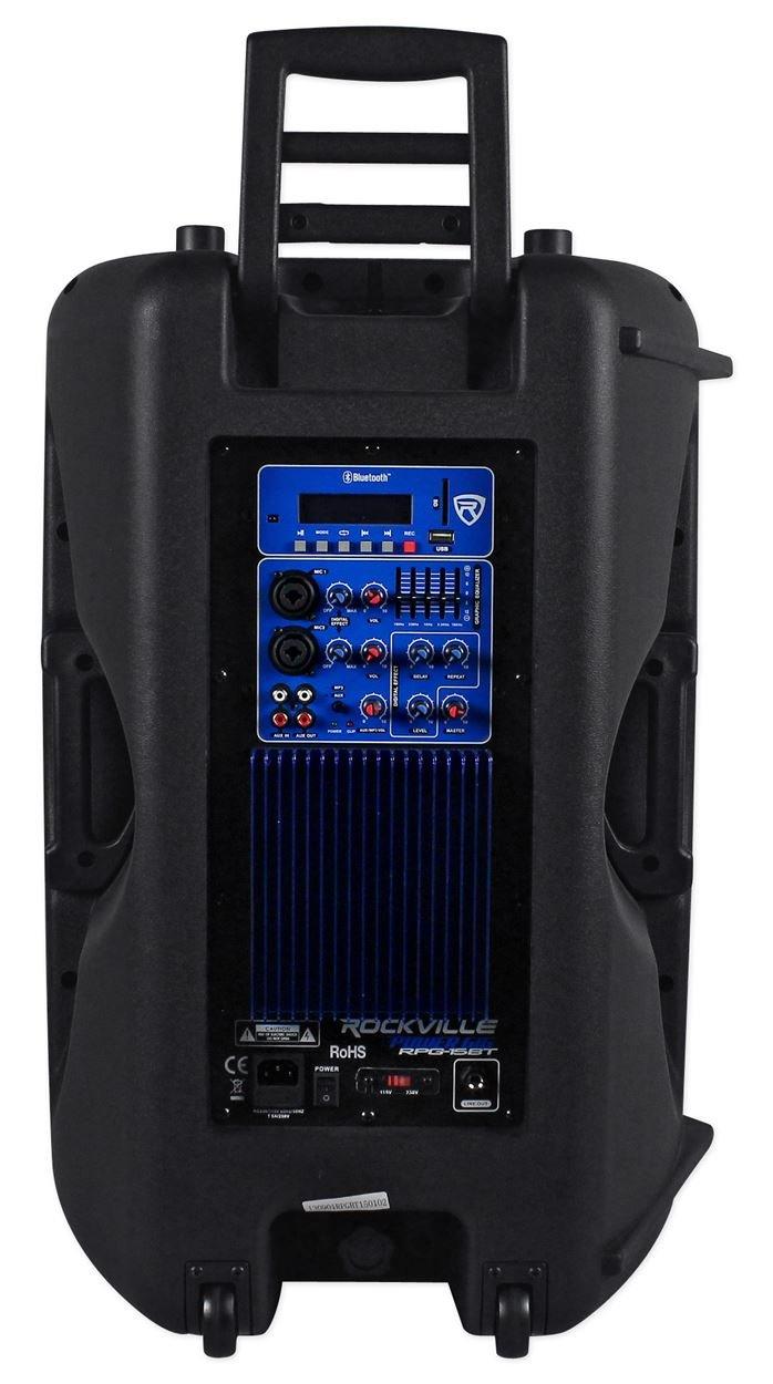 Rockville 15'' Powered 1000W DJ PA Speaker BlueTooth, USB, SD, EQ, Remote (RPG15BT) by Rockville (Image #4)