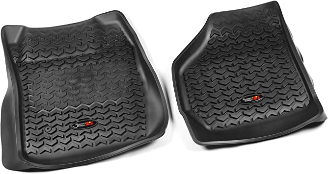 Amazon Com Rugged Ridge 82902 07 All Terrain Floor Liner Front Black 1999 2007 Ford F 250 F 350 Super Duty Regular Extended Super Crew Automotive